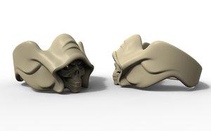 skull ring stones 3D