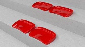 3D seat stadium daplast