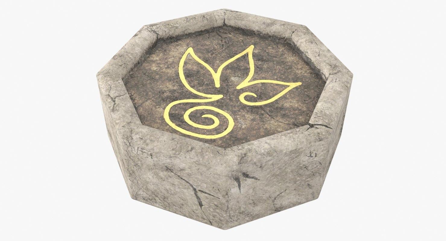 magical stone 3D