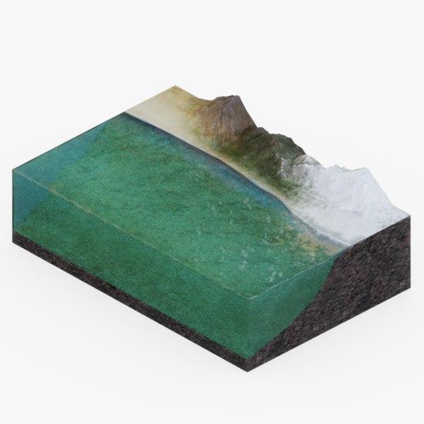 3D model ocean floor