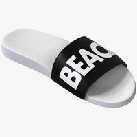 Black & White Slide Sandal