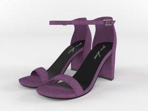 realistic women sandals 3D model