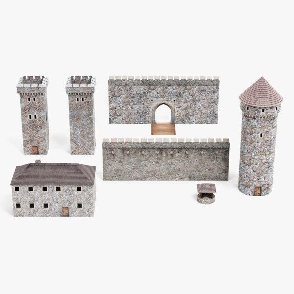 medieval set 3D model