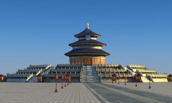 3D temple heaven