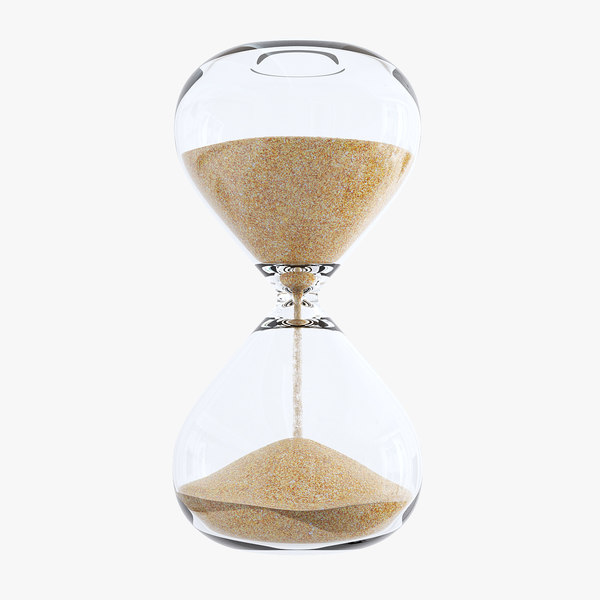 3D hourglass sand timer time
