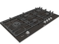 3D kitchen cooktop