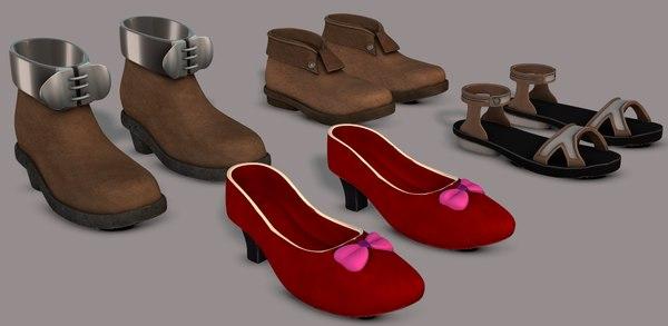 cartoon shoe 3D model