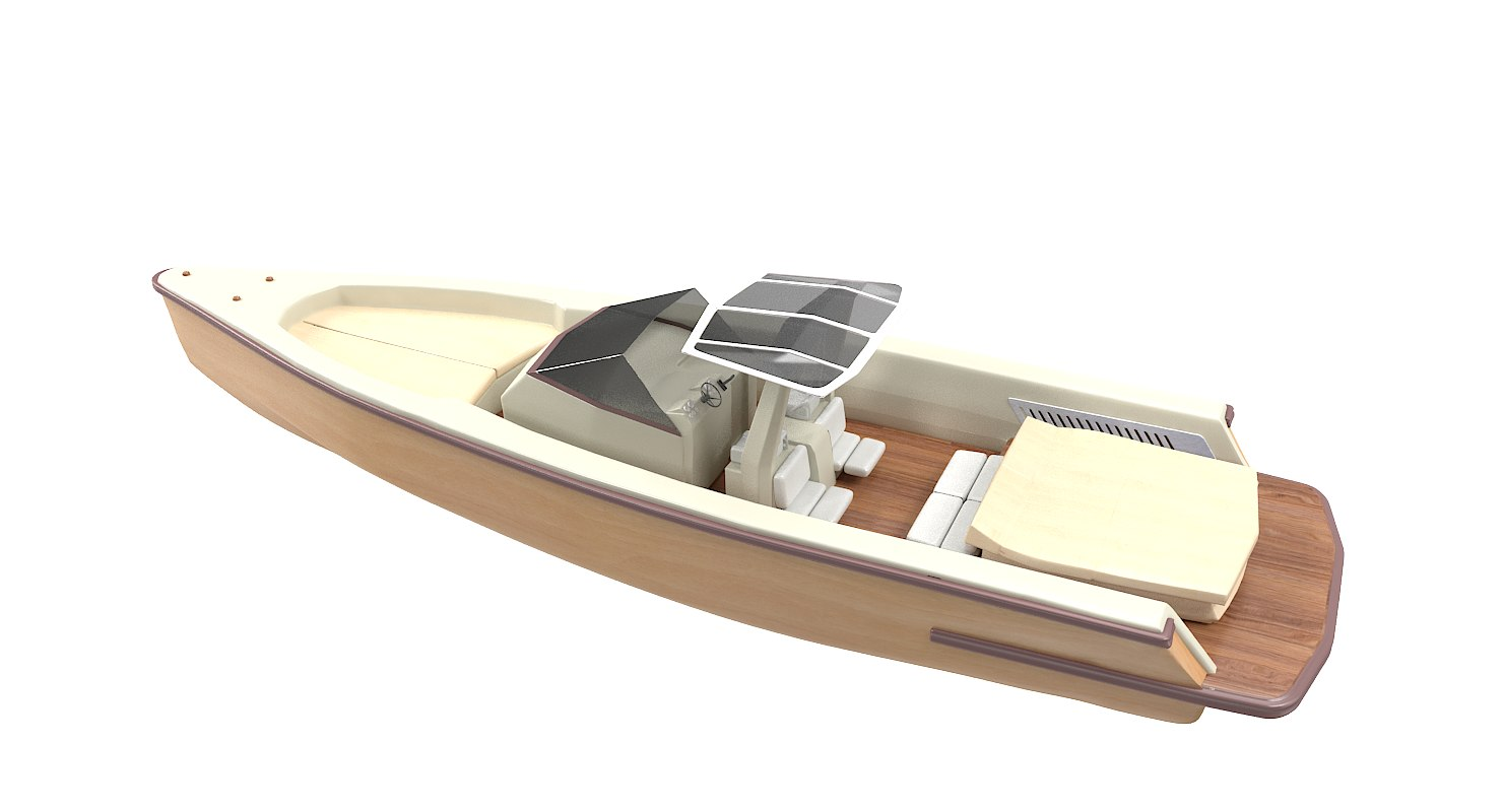 3D boat motorboat motor model