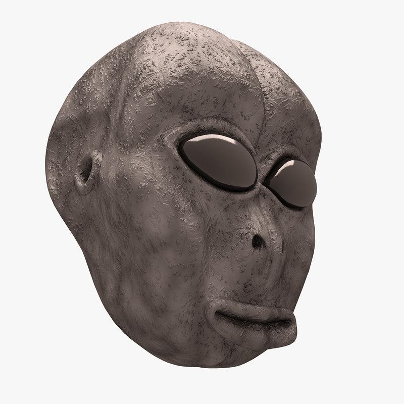 alien head 3D