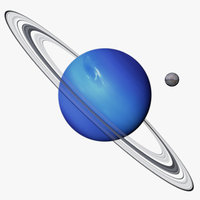realistic neptune photorealistic triton 3D model