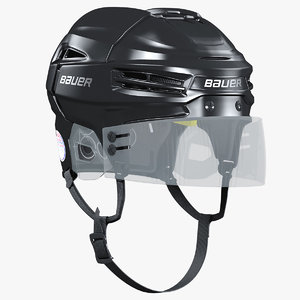 hockey helmet bauer re-akt 3D model
