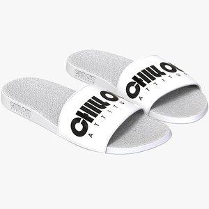 3D model pair sandals