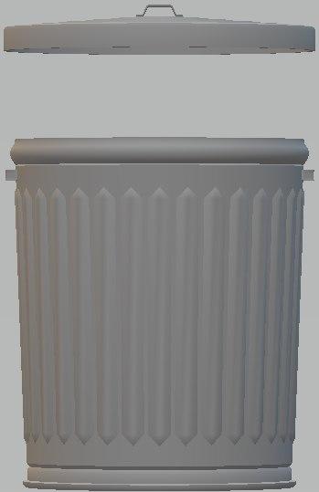 3D trash garbage