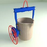3D ladle filling