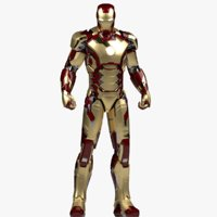 3D model iron man mark 42