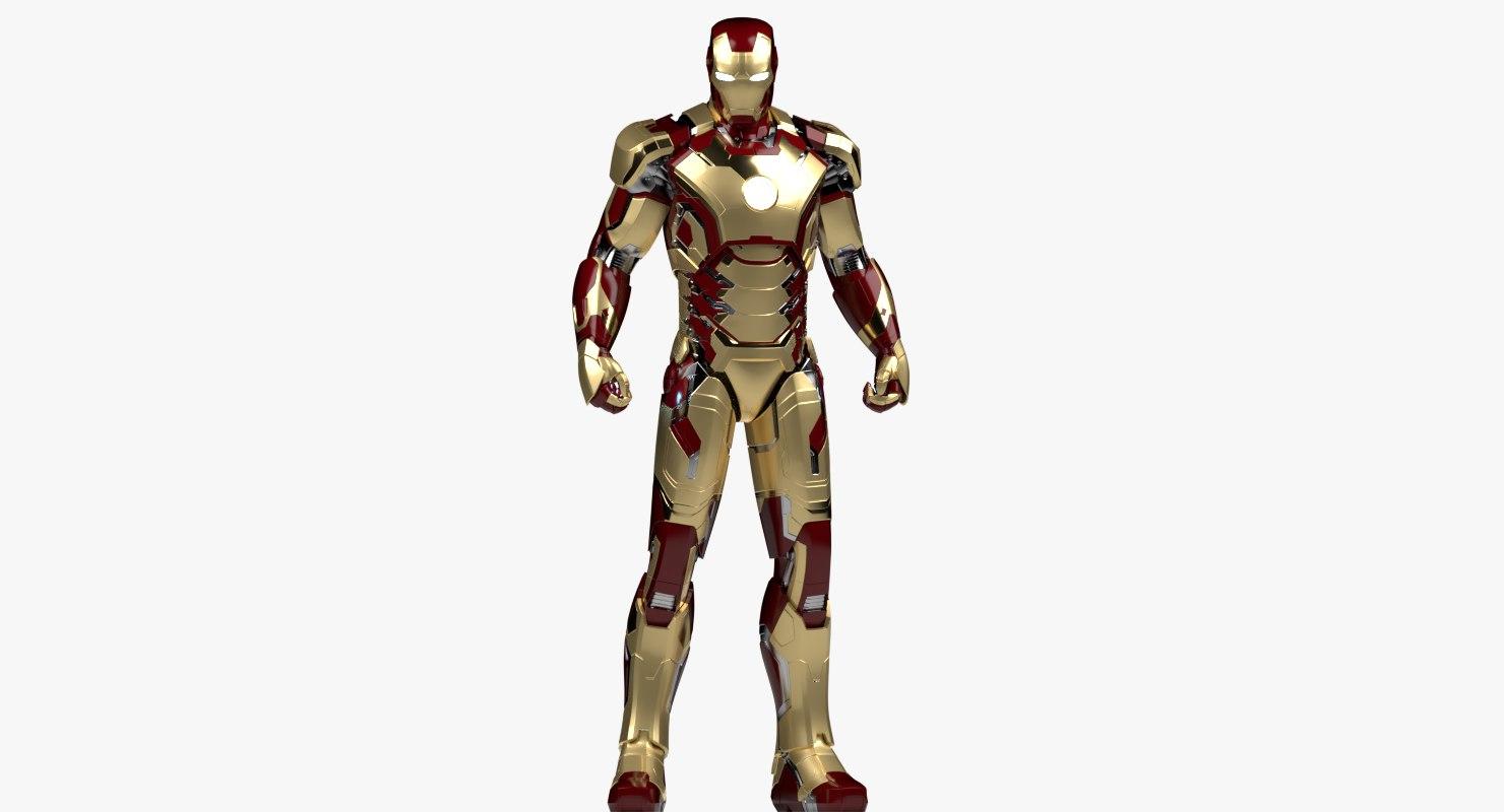 3D model iron man mark 42