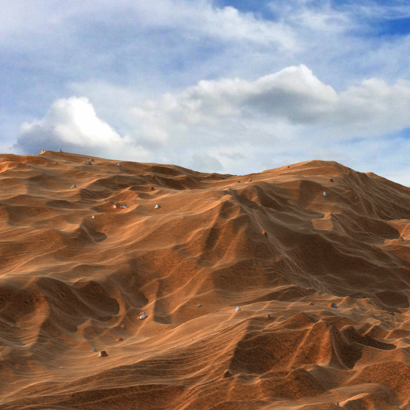3D realistic sand ground surface