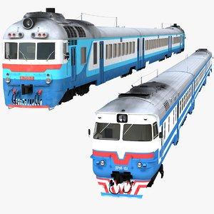 3D diesel passenger train model