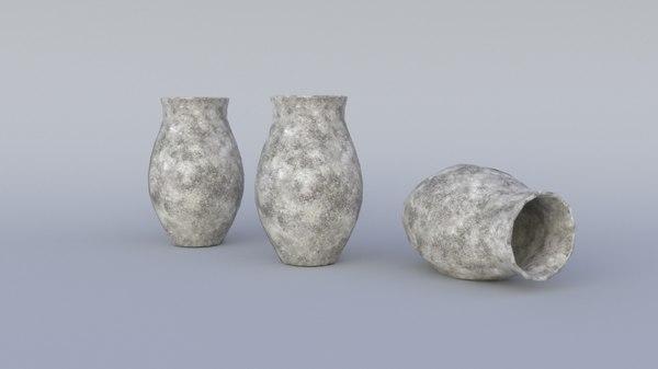 old pot 3D model