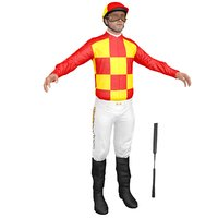 jockey people character 3D model