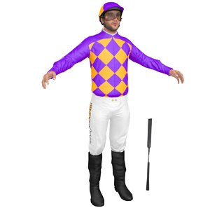 jockey people character 3D