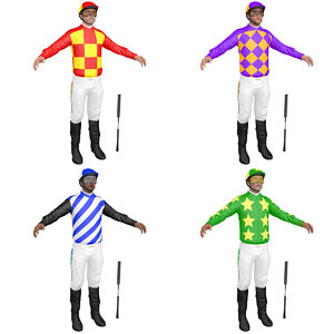 3D model pack jockey