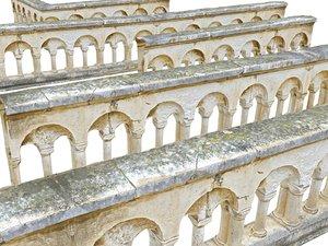 balustrade castle 3D model