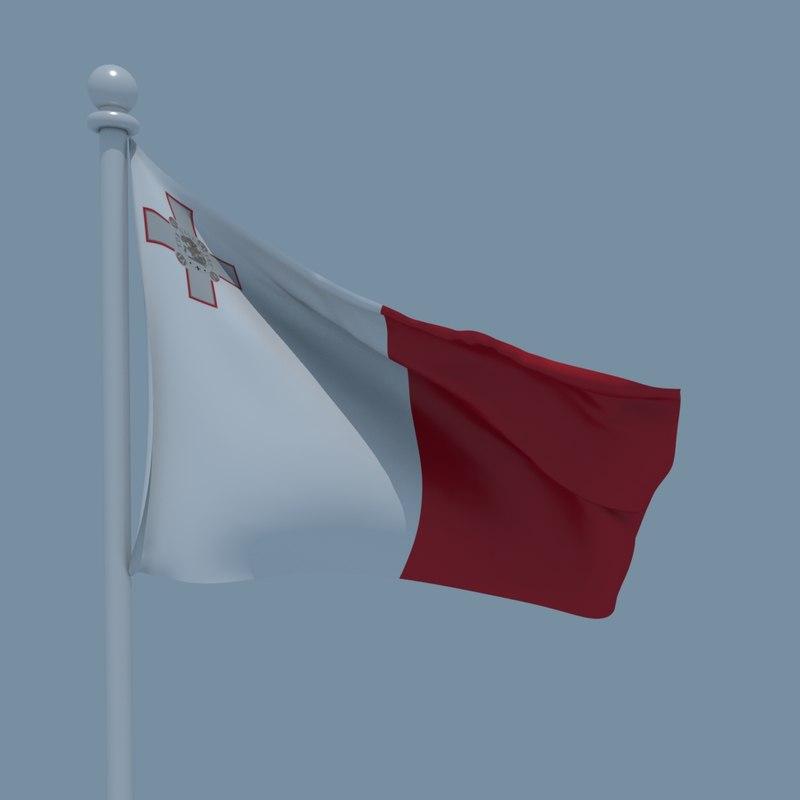 3D flag malta