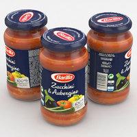 3D food sauce jar