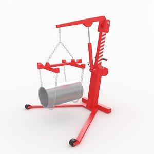 workshop crane 3D