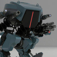 3D robot weapons model
