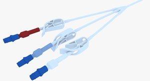 3D hickman catheter model