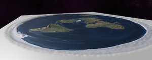 planet earth flat heightmap 3D model