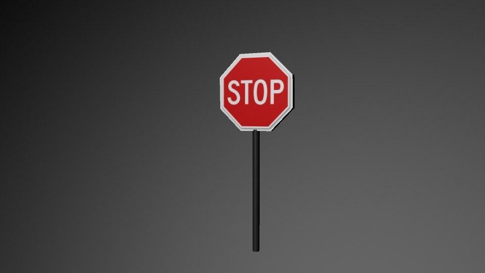 just stop sign 3D model