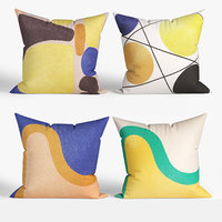 3D decorative pillows habitat set