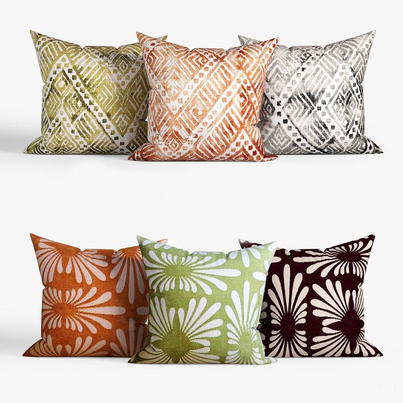 3D decorative pillows dot bo model