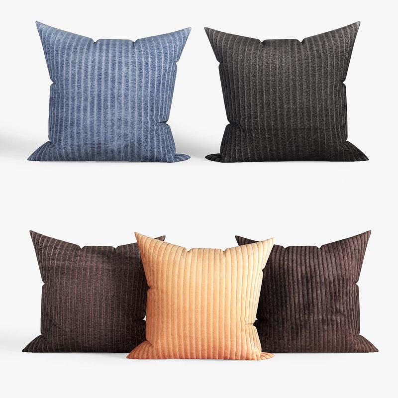 decorative pillows dot bo 3D