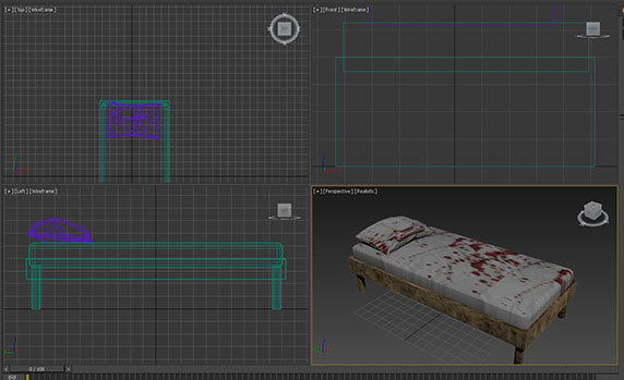 bloody bed 3D model