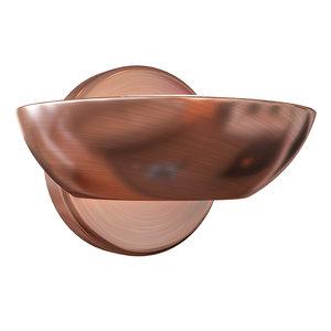 3D wall copper model
