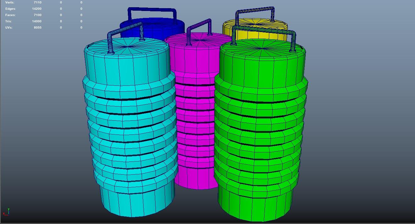 barrels assets 3D model
