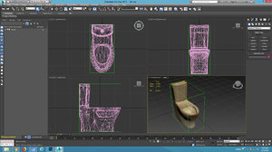 3D toilet android games model