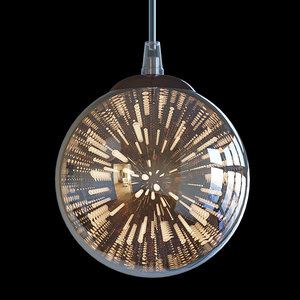 3D copper metal modern model