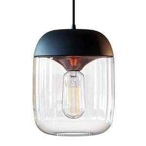 modern acorn pendant lamp 3D model