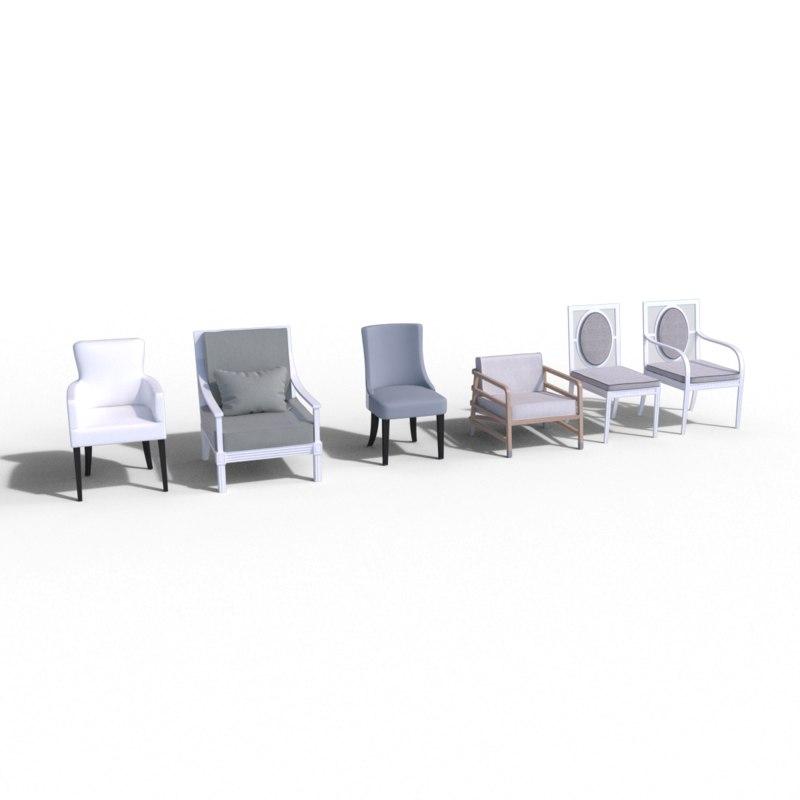 3D chairs janus et model