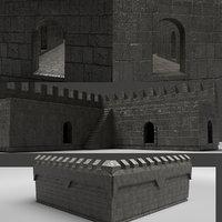3D castle wall