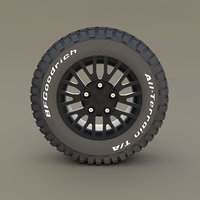 wheel bf goodrich tire 3D model