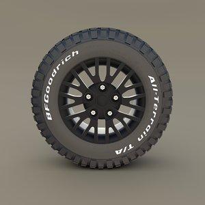 wheel bf goodrich tire 3D model