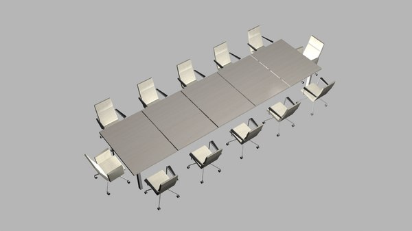 3D chairs conference table