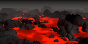 3D lava islands