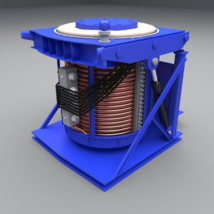 3D model induction furnace